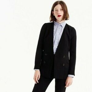NWT J. Crew French Girl Blazer In 365 Crepe Blue